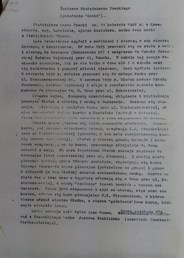 Życiorys Włodzimierza Dreckiego cz.1
