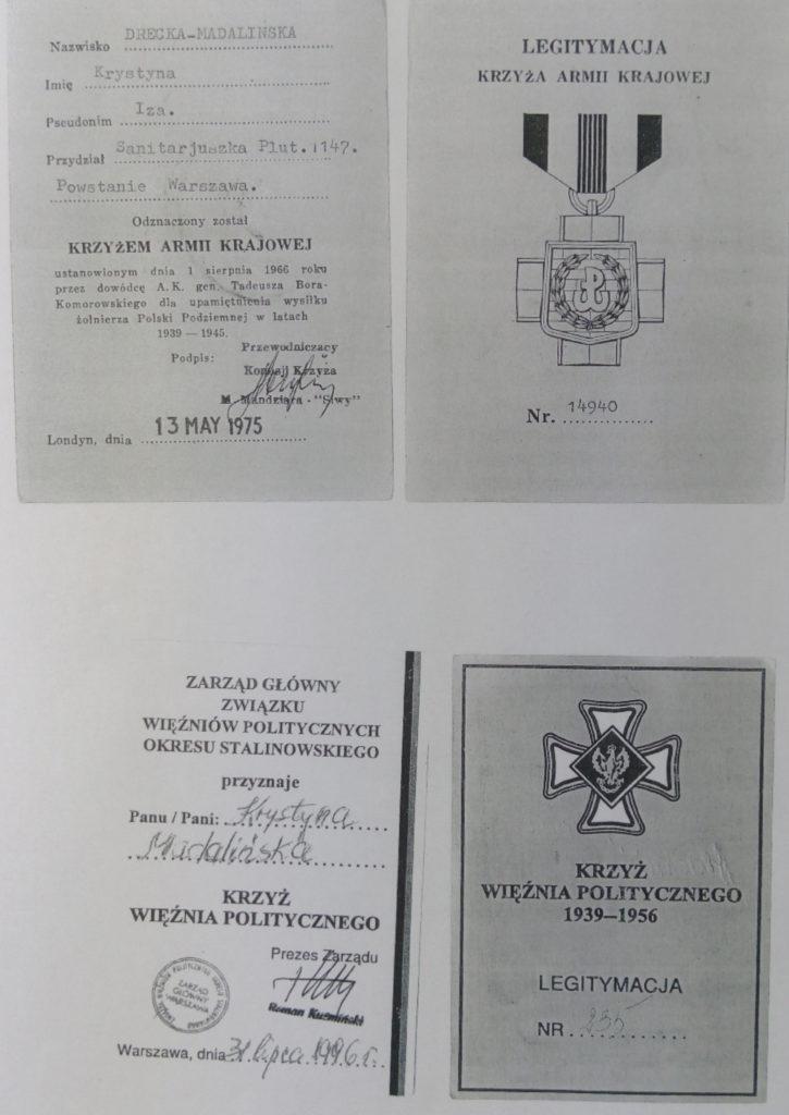 Legitymacje Krystyny Dreckiej